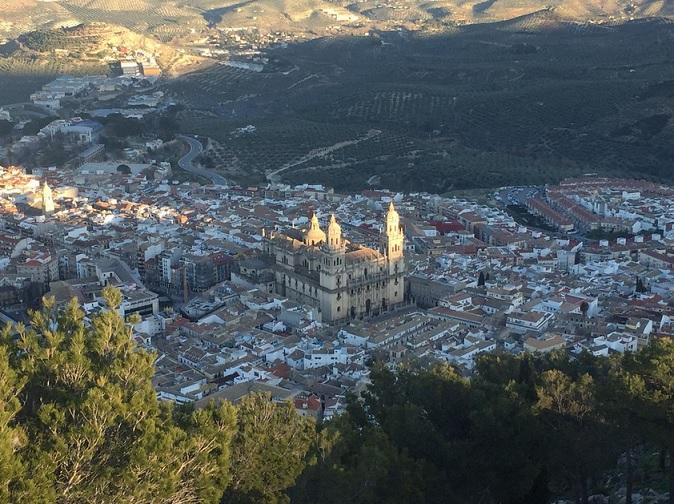 Ciudad de Jaén desde la sierra